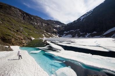 Islossning i Trollsjön.