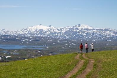 View of Vassijaure från Kärkegagge.
