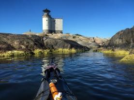 The lighthouse on the islet of Tjärven, Stockholm Archipelago.