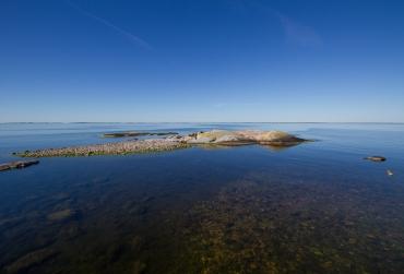 View of Söderarm archipelago from the islet of Tjärven