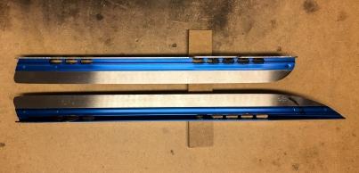 Skyllermarks Blå långfärdsskridskor, före och efter modifiering