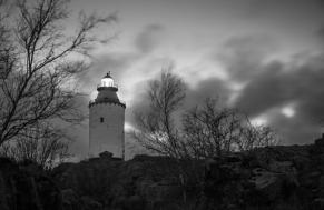 The Landsort lighthouse at the southern tip of Öja. Stockholm southern archipelago.