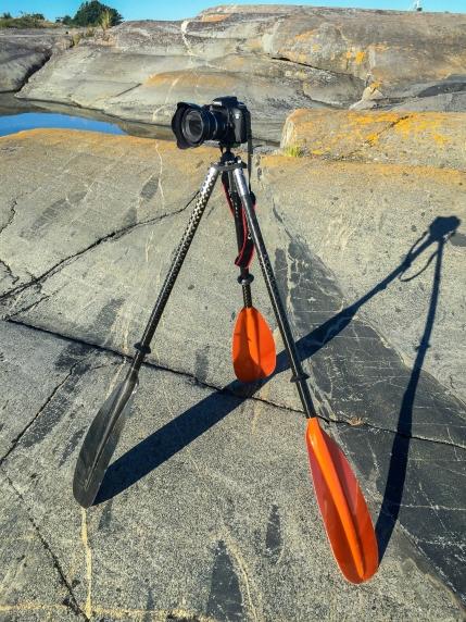 Kamerastativ för havskajak
