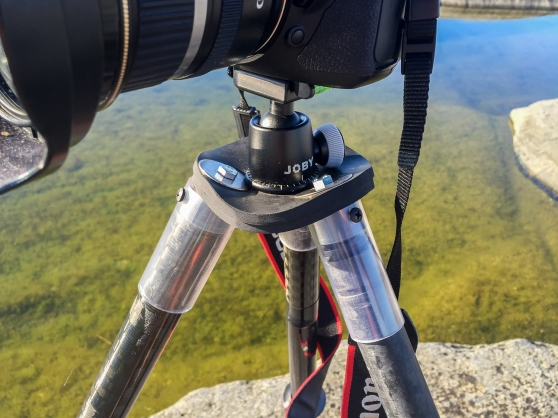 Sea kayakers camera tripod