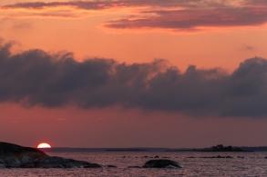 Solnedgång över Röder i Stockholms skärgård