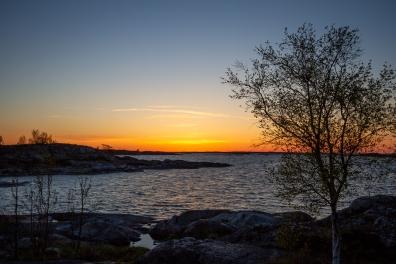 Solnedgång över Inre Håkanskär