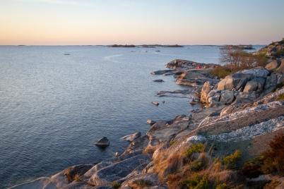 Öar och horisont vid Norrpada, Stockholms skärgård