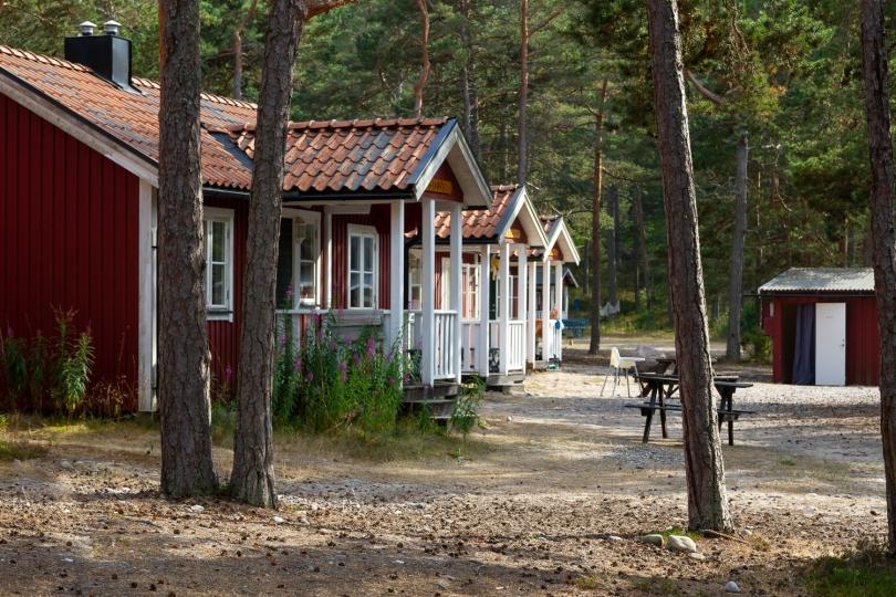 Stugor vid Lägerplatsen på Gotska Sandön
