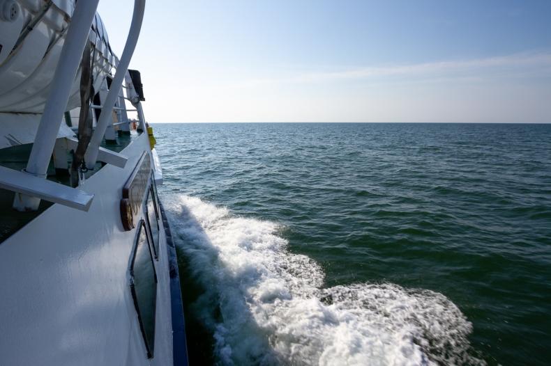Vy över horisonten från däck på fartyget MS Gotska Sandön