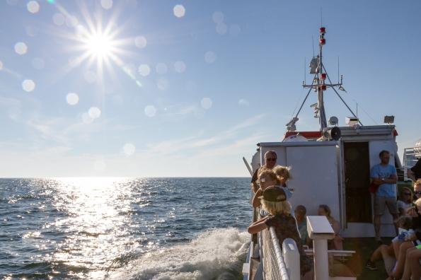 Fartyget MS Gotska Sandön på väg mot Nynäshamn