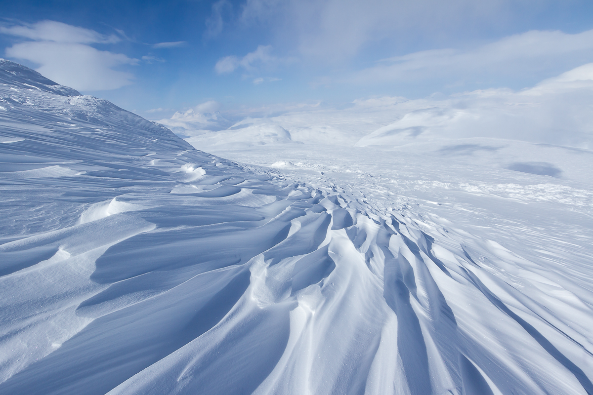 copyright goran pehrson-snow-pattern-wind-mountain-arctic-cold-swedish lapland