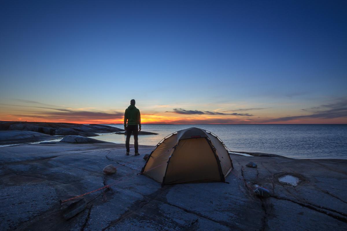 sunset-solnedgång-stockholm archipelago-stockholms skargard-tent-talt