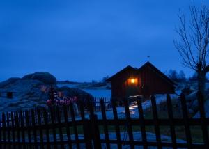Vinterkväll på Bullerön, Stockholms skärgård