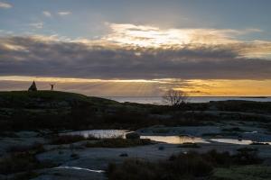 Solnedgång över Garkast i Sörmlands skärgård