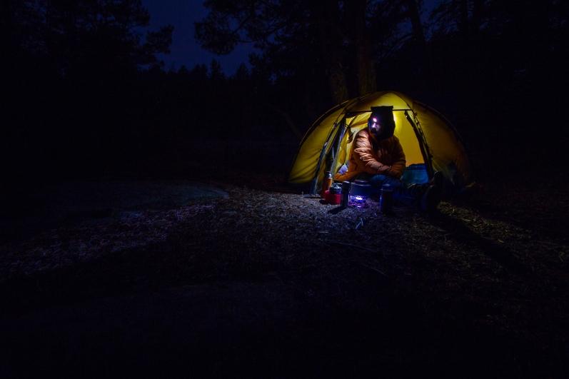 Tältnatt i Stendörrens naturreservat