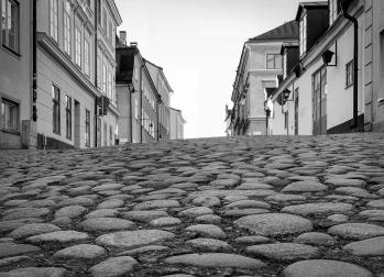 The alleys of Söder, Stockholm city
