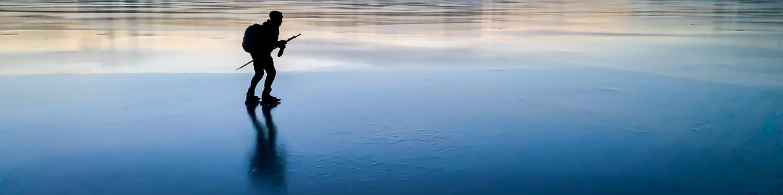 langfardsskridskor-skridsko-nordic skates-solhouette-sunset
