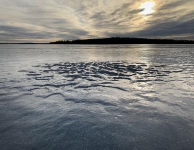 Vackra formationer i isen, Hargshamn, Stockholms norra skärgård
