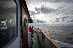 Överfart över Östersjön från Blå Jungfrun nationalpark