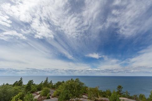 Utsikt från Blå Jungfrun nationalpark