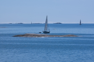 Segelbåtar i Stockholms skärgård