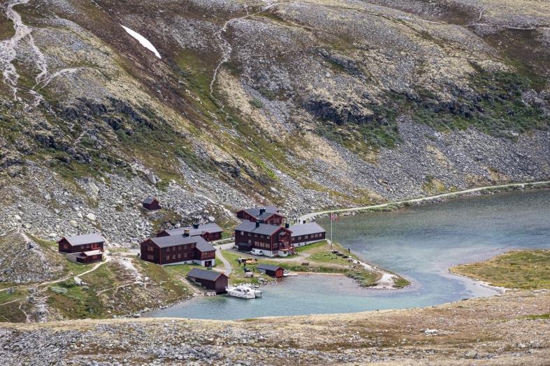 Rondvassbu hytte i Rondane nationalpark, Norge