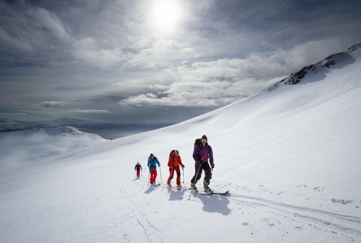 Ski touring in beautiful northern Norway