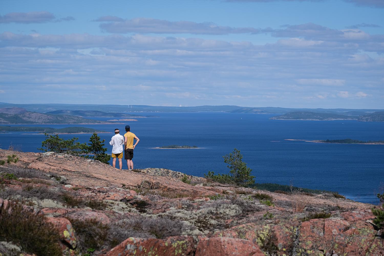 Utsikt från toppen av Mjältön, Höga kusten