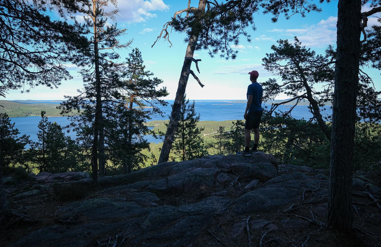 Utsikt från Skuleberget nationalpark, Höga kusten