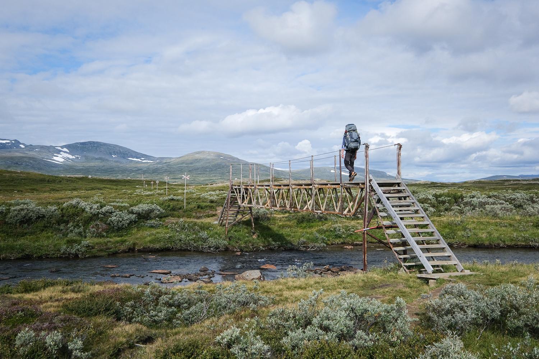 Fjällvandring mot Sylarna, Jämtland