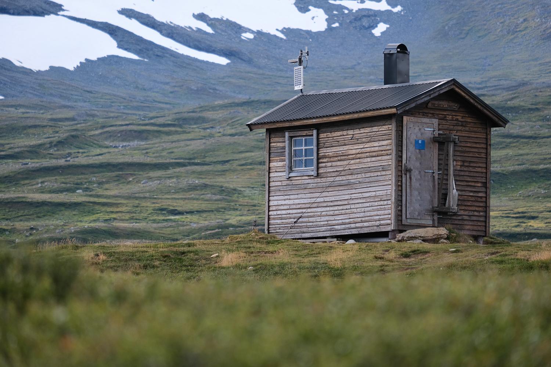Vindskyddet vid Miesehketjahke, Jämtlandsfjällen